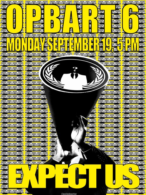 #OpBART 6 poster by @exiledsurfer
